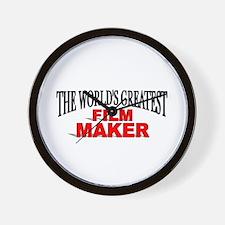 """The World's Greatest Film Maker"" Wall Clock"