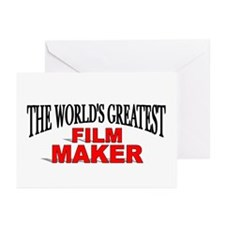 """""""The World's Greatest Film Maker"""" Greeting Cards ("""