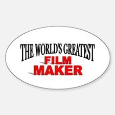 """The World's Greatest Film Maker"" Oval Decal"
