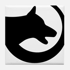 dog-swoosh-PoL-logo Tile Coaster