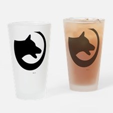 dog-swoosh-PoL-logo Drinking Glass