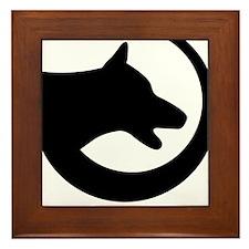 dog-swoosh-PoL-logo Framed Tile