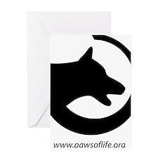 dog-swoosh-PoL-logo Greeting Card