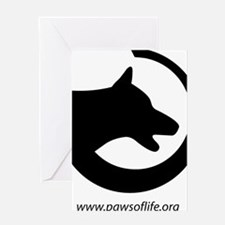 dog-swoosh-PoL-logo Greeting Card
