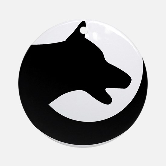 dog-swoosh-PoL-logo Round Ornament