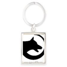 dog-swoosh-PoL-logo Portrait Keychain