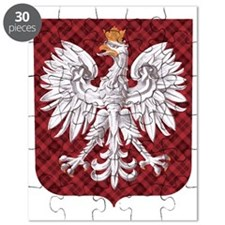 Polish Eagle Plaid Crest Puzzle