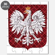 Polish Eagle Plaid Crest Puzzle