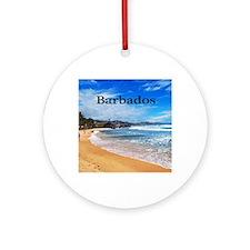 Barbados Round Ornament