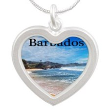 Barbados Silver Heart Necklace