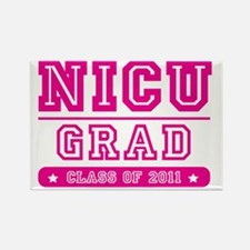 nicugradpinktext Rectangle Magnet