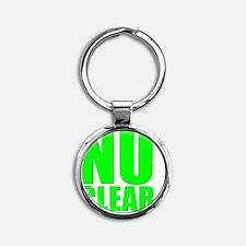nuclear Round Keychain