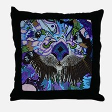 otter-posterized-cropped Throw Pillow