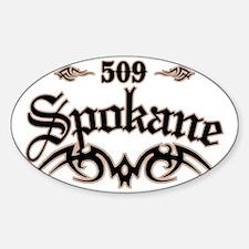 Spokane 509 Sticker (Oval)