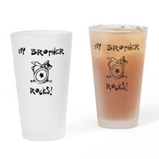MyBrotherRocksDrums Drinking Glass