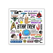 "Trekkie Memories Square Sticker 3"" x 3"""