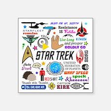 """Trekkie Memories Square Sticker 3"""" x 3"""""""