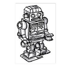 robot Postcards (Package of 8)