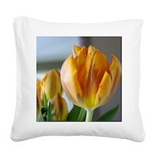 Yellow Tulip Square Canvas Pillow