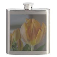 Yellow Tulip Flask