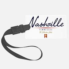 Nashville Script W Luggage Tag