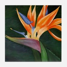 Bird of Paradise (Oil) Tile Coaster