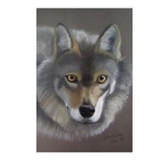 Grey Wolf (Chalk Pastel) Postcards (Package of 8)