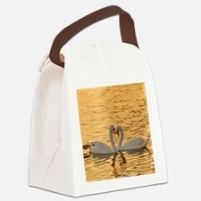 SwansAtSunset_mousePad Canvas Lunch Bag