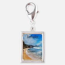 Barbados2.91x4.58 Silver Portrait Charm