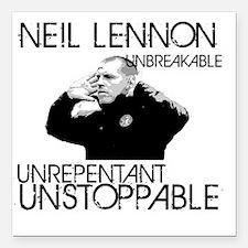 "Lennon Unstoppable Square Car Magnet 3"" x 3"""