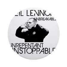 Lennon Unstoppable Round Ornament