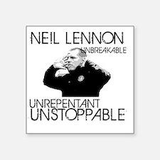 "Lennon Unstoppable Square Sticker 3"" x 3"""