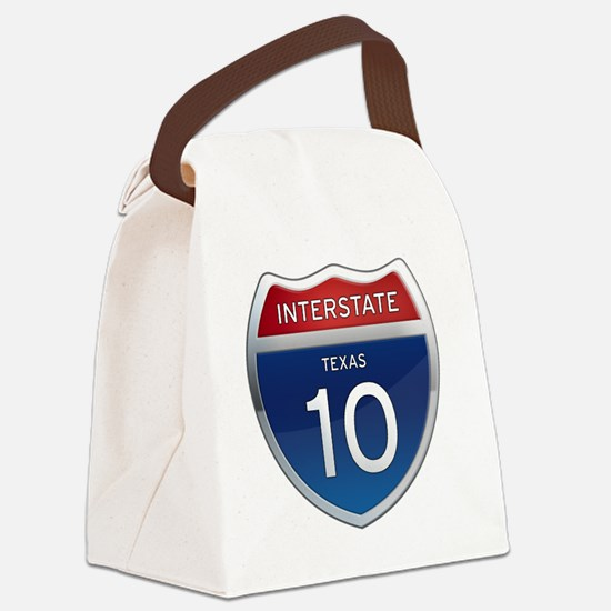 Interstate 10 - Texas Canvas Lunch Bag