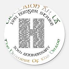 Hunger Strike 30th Anniversary Round Car Magnet