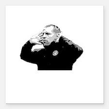 """Lennon Unstoppable DARK Square Car Magnet 3"""" x 3"""""""