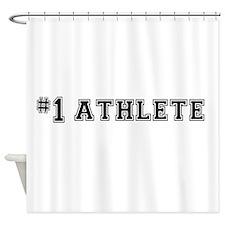 #1 Athlete Shower Curtain