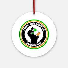 Celtic Antifascists Round Ornament