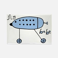 Fly Babe - blue Rectangle Magnet
