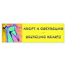 Recycling Hearts Bumper Bumper Sticker