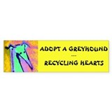 Adopt a greyhound recycle a heart Stickers
