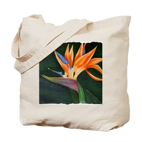 Bird of Paradise (Oil) with frame Tote Bag