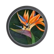 Bird of Paradise (Oil) with frame Wall Clock