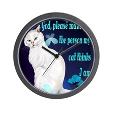 459_ipad_case God, Please- Wall Clock