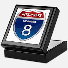 Interstate 8 - California Keepsake Box