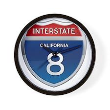 Interstate 8 - California Wall Clock