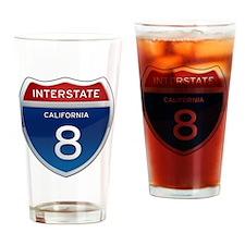 Interstate 8 - California Drinking Glass