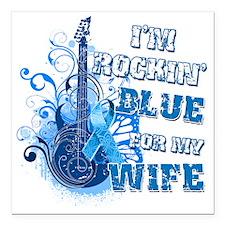 "Im Rockin Blue for my Wi Square Car Magnet 3"" x 3"""