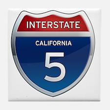 Interstate 5 - California Tile Coaster