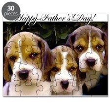fathers day beagle puppies Puzzle