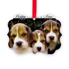 fathers day beagle puppies Ornament